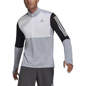 adidas OWN The Run LS 1/2 Zip Shirt Men, gris/negro